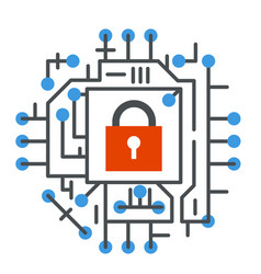 cyber security web technology digital internet vector image
