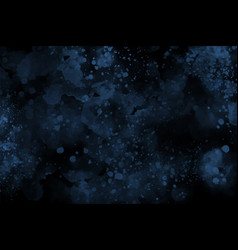 Dark blue watercolor abstract background vector