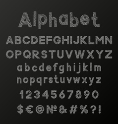 Decorative chalk alphabet vector image