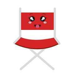 Director chair kawaii character vector