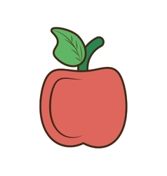 drawing apple school teacher student symbol vector image