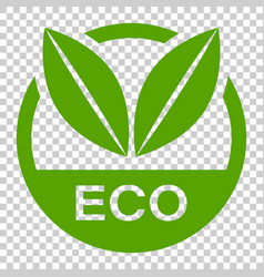 eco label badge icon in flat style organic vector image