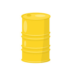 Flat icon of bright yellow barrel vector