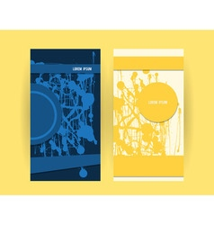 Flyers blue yellow vector