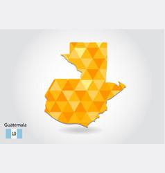 geometric polygonal style map of guatemala low vector image