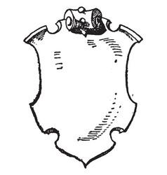 German shield is the bundesadler vintage engraving vector