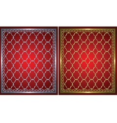 gold and metal grids vector image