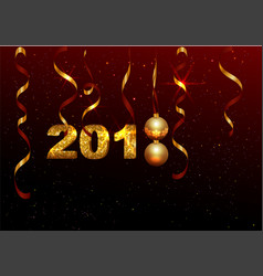 golden 2018 number symbol new year holiday vector image