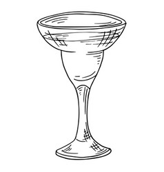 Hand drawn alcohol drink sketch cocktail for bar vector
