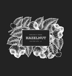 hand drawn sketch hazelnut design template vector image