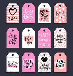 hand lettering phrases fall in love etcon vector image