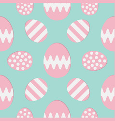 happy easter painting egg painted shell set pink vector image