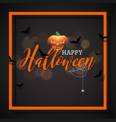 Happy halloween with pumpkin vector