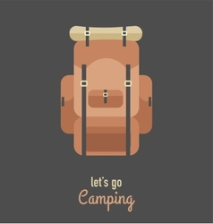 Hiking and camping vintage hipster poster vector image