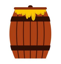 Honey keg icon flat style vector