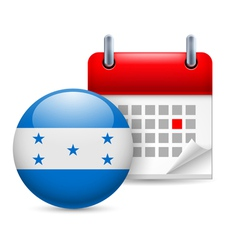 Icon of National Day in Honduras vector image