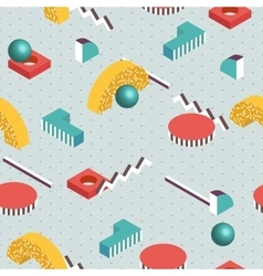 Isometric background Seamless abstract pattern vector