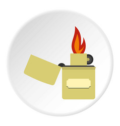 Lighter icon circle vector