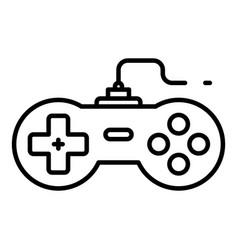 Machine joystick icon outline style vector