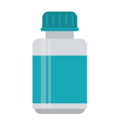 Medicine bottle capsule icon vector