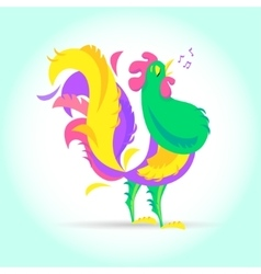 New Year Cute cartoon rooster vector image