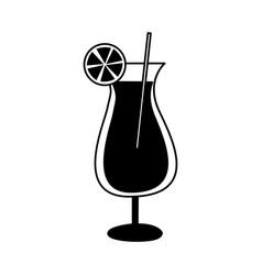 Orange juice cocktail icon vector