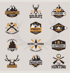 Outdoor tourist travel logo scout badges template vector