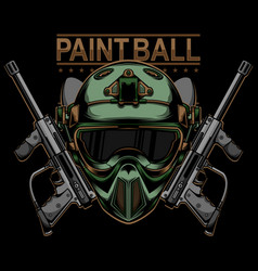 Paintball logo design vector