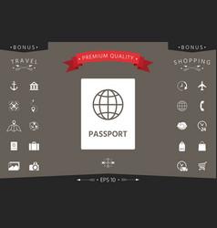 passport icon symbol vector image
