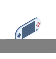 portable game console isometric icon vector image