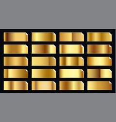 Precious golden gold gradients big premium set vector
