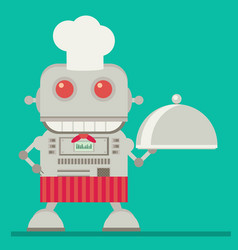 Robot chef flat vector