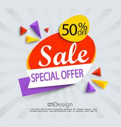 Sale - special offer banner vector image