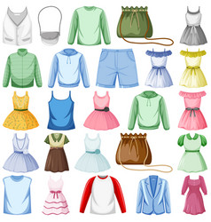 set fashion outfits vector image