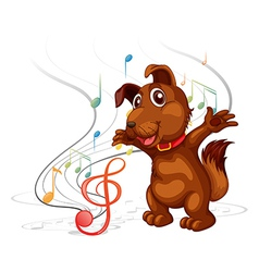 Singing dog vector