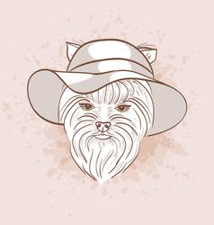 Sketch of elegant dog vector