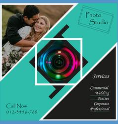 social media photography ad design vector image