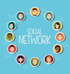 Social network community people vector