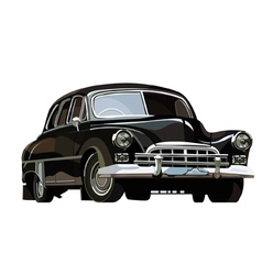Soviet retro car black vector image
