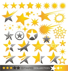 Star icon and logo collection vector image