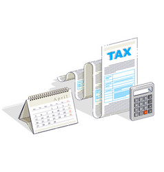 Taxation concept tax form or paper legal document vector