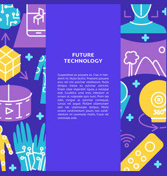 virtual reality concept poster in flat style vector image