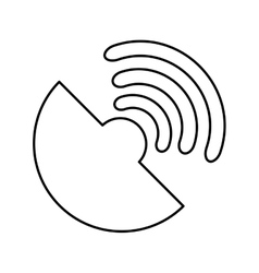 Wifi connection service icon vector
