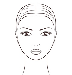 Women s face vector
