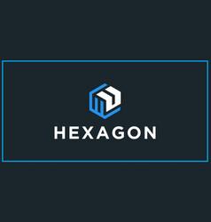 Wu hexagon logo design inspiration vector