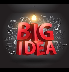 Big idea concept with drawing charts and graphs vector image