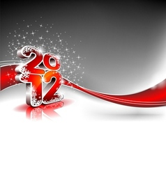calendar design 2012 on red wave background vector image vector image