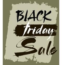 Hand lettering Black Friday sale vector image