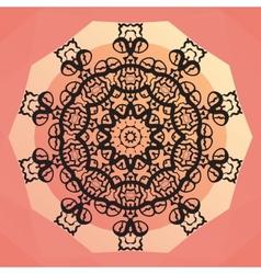 Ornamental round mandala design Round frame on vector image