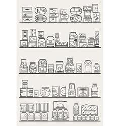 Store shelves 3 vector